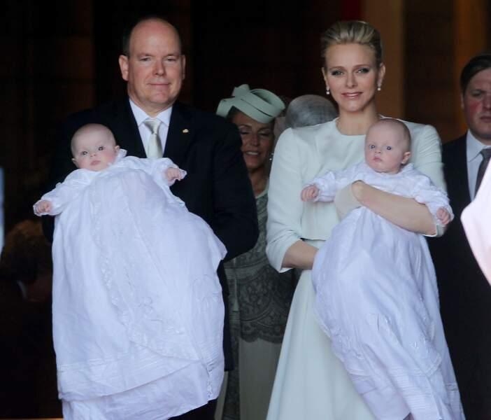 Baptême des enfants princiers Jacques et Gabriella en la Cathédrale de Monaco le 10 mai 2015