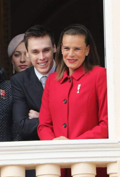 Beatrice Borromeo, Louis Ducruet et Stéphanie lors de la fête nationale monégasque le 19 novembre 2015