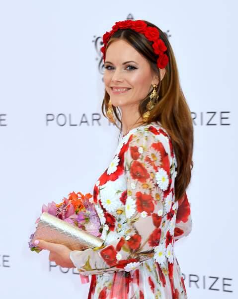 """La princesse Sofia de Suède lors de la soirée """"Polar Music Prize"""" au Grand Hotel à Stockholm le 11 juin 2019"""