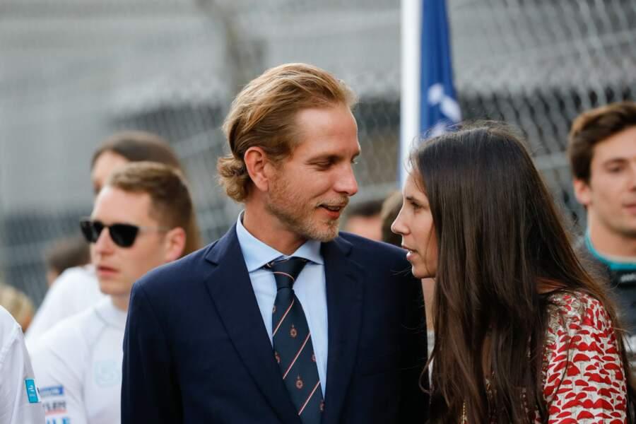 Andrea Casiraghi et sa femme Tatiana Santo Domingo en pleine convesation