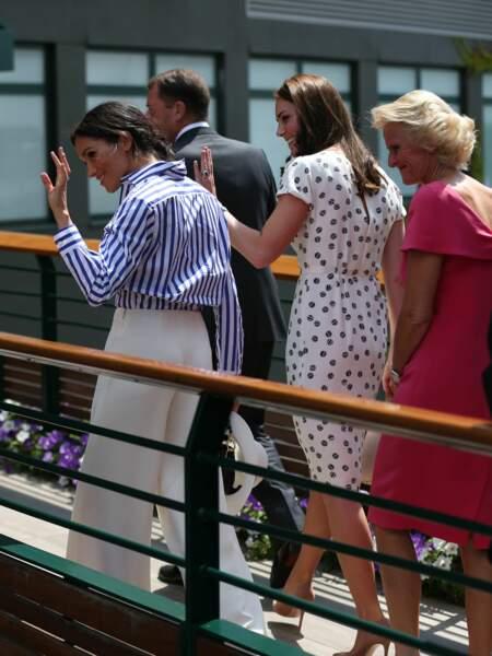 Meghan Markle et Kate Middleton le 14 juillet 2018.