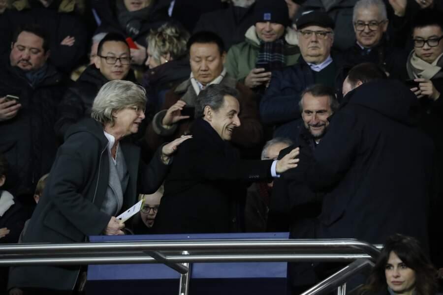 Nicolas Sarkozy a assisté au match le 17 janvier.