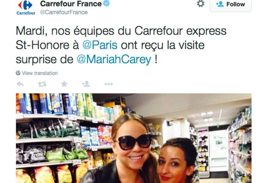 Sur Twitter, Carrefour a surfé sur l'occasion pour se faire de la pub