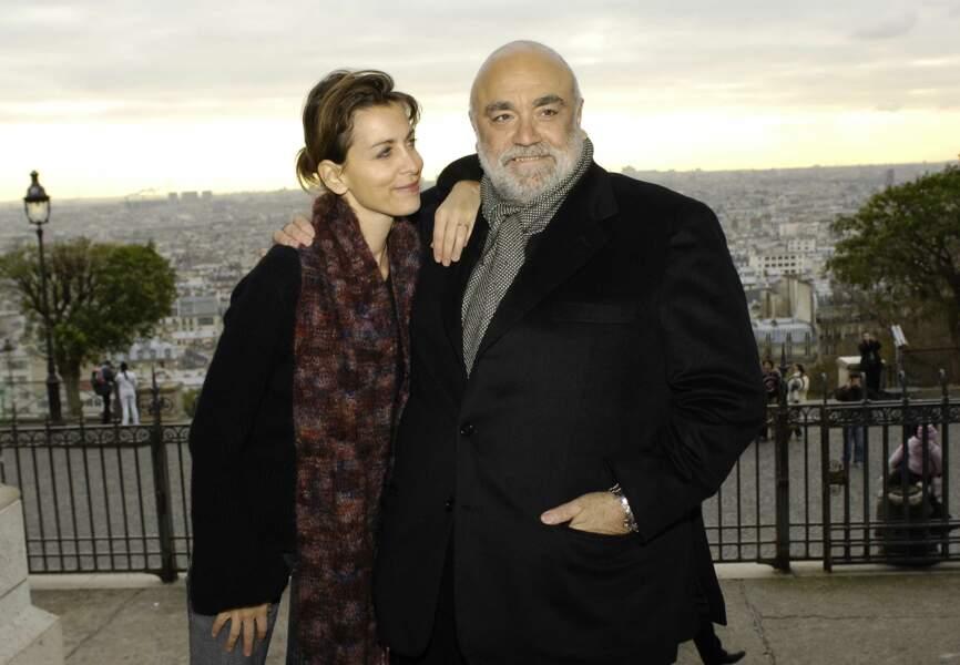 Le chanteur et sa fille Emilie en 2006