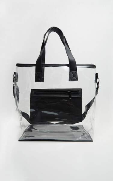 Cabas transparent, 42 €, Pretty Little Thing.