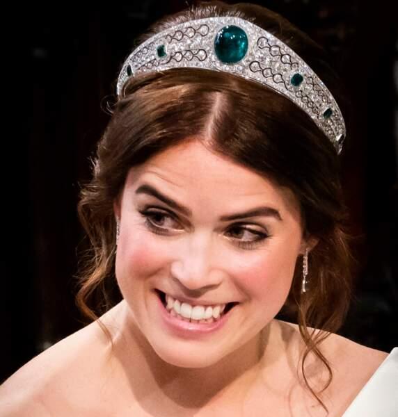 Eugénie d'York: ombre mordorée et mèches ondulées: style chic et joyeux le 12 octobre 2018