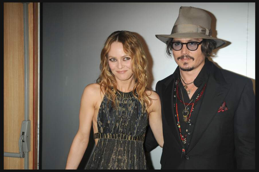 Vanessa Paradis et Johnny Depp à Cannes en 2010