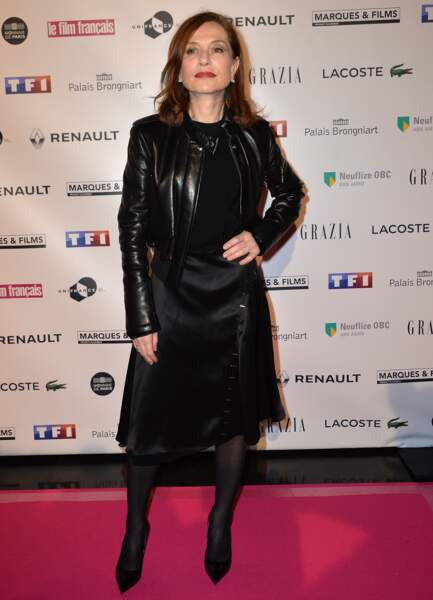 """Isabelle Huppert à la 24ème cérémonie des """"Trophées du Film Français"""""""