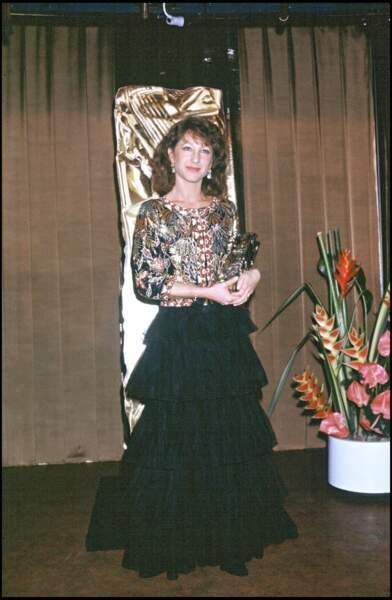 """Nathalie Baye remporte le César de la meilleure actrice en 1983 pour le film """"La Balance"""""""
