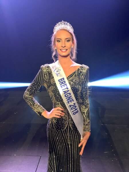 Emilie Bachellereau, 22 ans, a été sacrée Miss Bretagne et tentera de devenir Miss France 2019