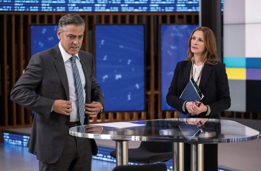 """Elle retrouve George Clooney dans le film """"Money Monster"""" de Jodie Foster en 2016"""