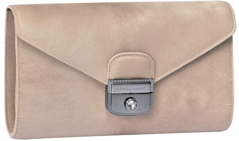 Pochette Atelier en poulain, 570 € (Longchamp).