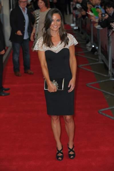"""Pippa Middleton à la première du film """"Shadow Dancer"""" à Londres, le 13 août 2012"""