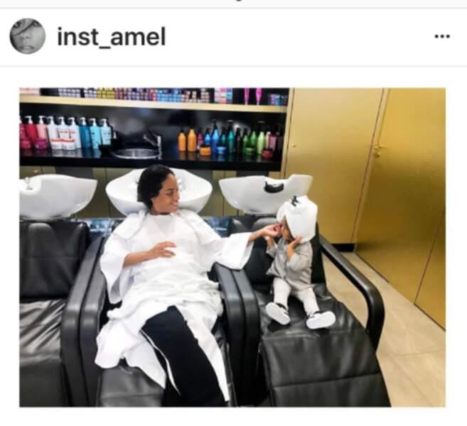 Amel Bent et sa petite Sofia