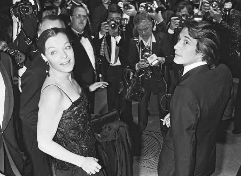 Romy Schneider et Daniel Biasini au Festival de Cannes en 1978