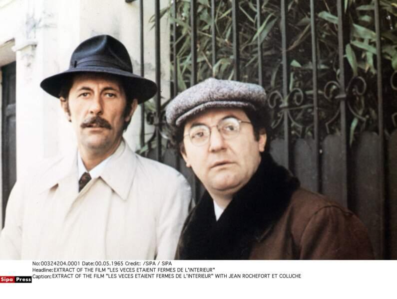 Coluche et jean Rochefort