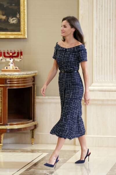 La robe de Letizia d'Espagne était évasée en bas