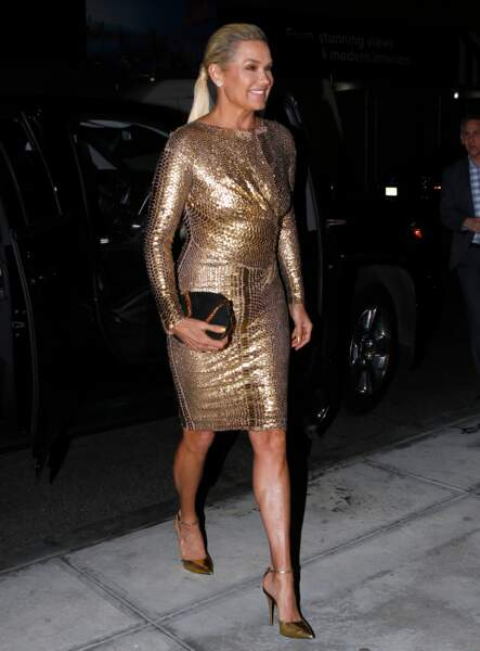 Yolanda Hadid toute de lamée vêtue