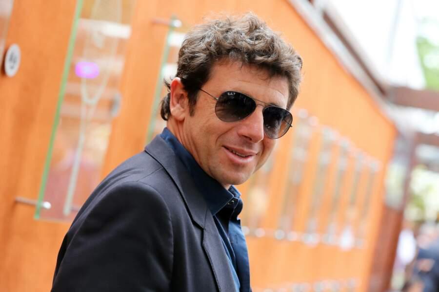 Patrick Bruel à Roland Garros, en 2012
