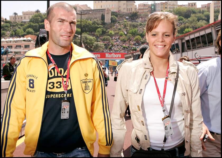 Zinédine Zidane et Laure Manaudou au Grand Prix de Formule 1 de Monaco, en 2005