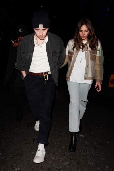 Brooklyn Beckham et Hana Cross lors de la soirée de lancement d'une gamme de maquillage de la marque Pat McGrath