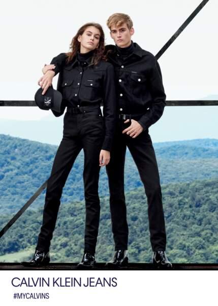 Kaia Gerber et son frère Presley pour la toute dernière campagne Calvin Klein automne-hiver 2018.