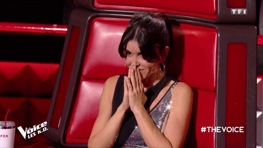 Jenifer lors de l'épreuve des K.O. dans The Voice le samedi 6 avril.