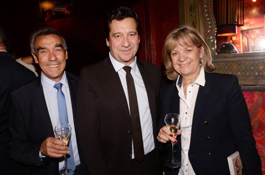 Laurent Gerra et ses parents, Jean-Christian et Nicole Gerra, à Paris le 9 octobre 2017