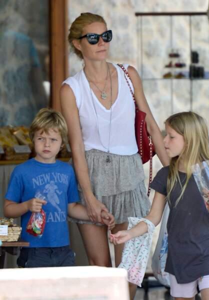 Gwyneth Paltrow et ses enfants Apple et Moses, de 14 et 13 ans aujourd'hui