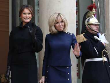 Brigitte Macron et Melania Trump à l'Elysée à la veille du 11 novembre