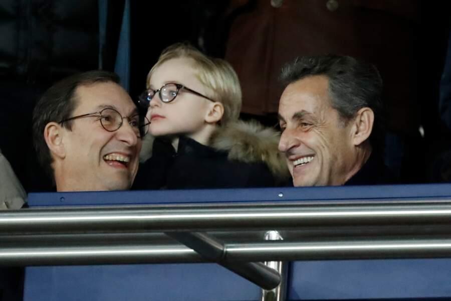 Nicolas Sarkozy au Parc des Princes.