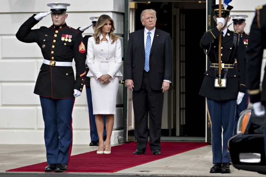 Melania Trump et Donald Trump ont accueilli cette semaine le premier ministre israélien et son épouse