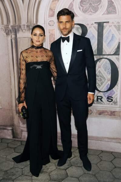 Toujours aussi glamour, Olivia Palermo et son compagnon Johannes Huebl