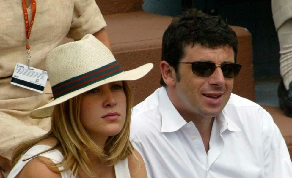 Patrick Bruel et Aamnda à Roland Garros en 2003