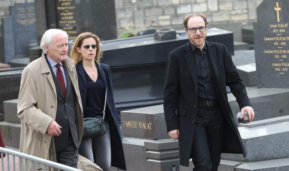 Marius Colucci lors des obsèques de sa mère Véronique Colucci