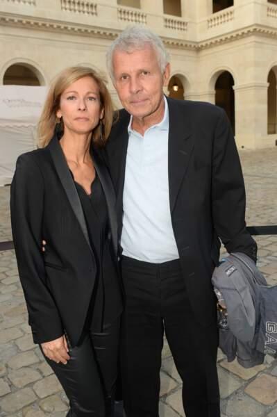 """Anne Gravoin et Patrick Poivre d'Arvor lors de l'Opéra en plein air """"Carmen"""" à Paris."""