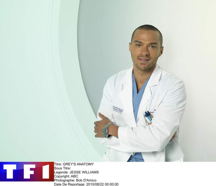 "Jesse Williams, alias le Dr Jackson Avery, dans ""Grey's Anatomy"""