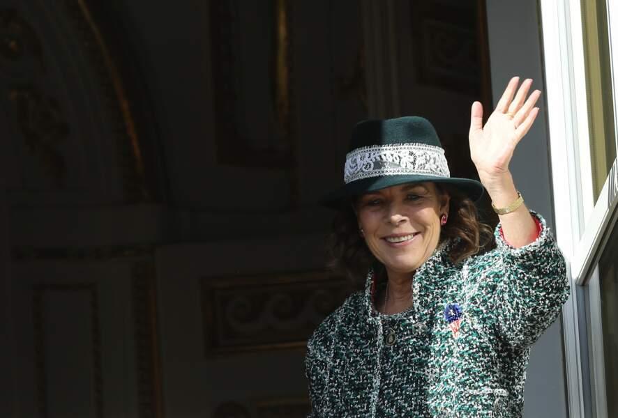 La princesse lors de la fête nationale monégasque, le 19 novembre 2018