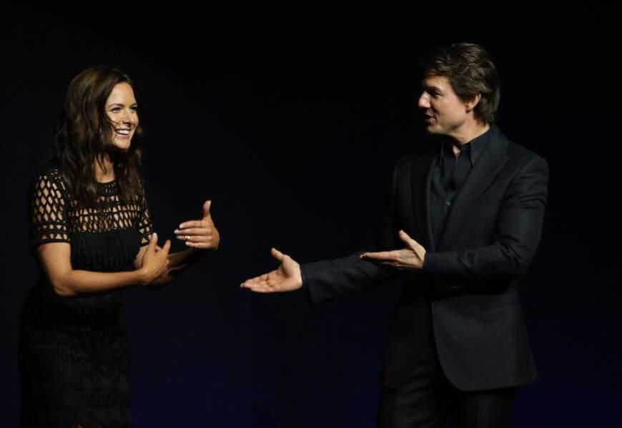 Tom Cruise et Rebecca Ferguson pour Mission Impossible Rogue Nation en 2015