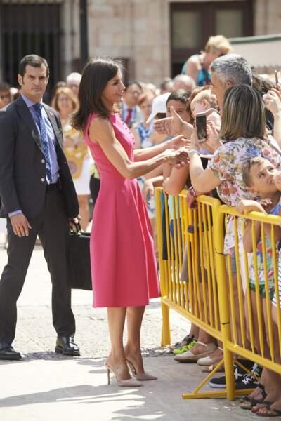 La reine Letizia d'Espagne a été aperçue ce 9 juillet à Almagro en Espagne