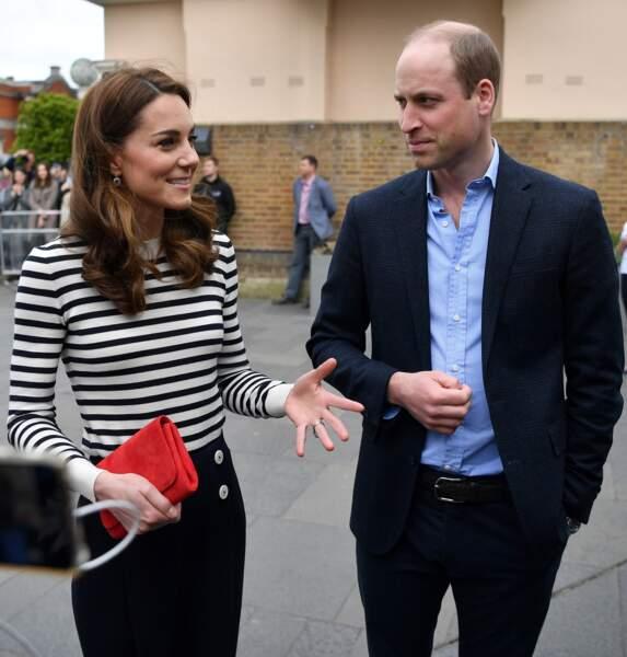Kate Middleton porte souvent des marinières comme ce modèle LK Bennet