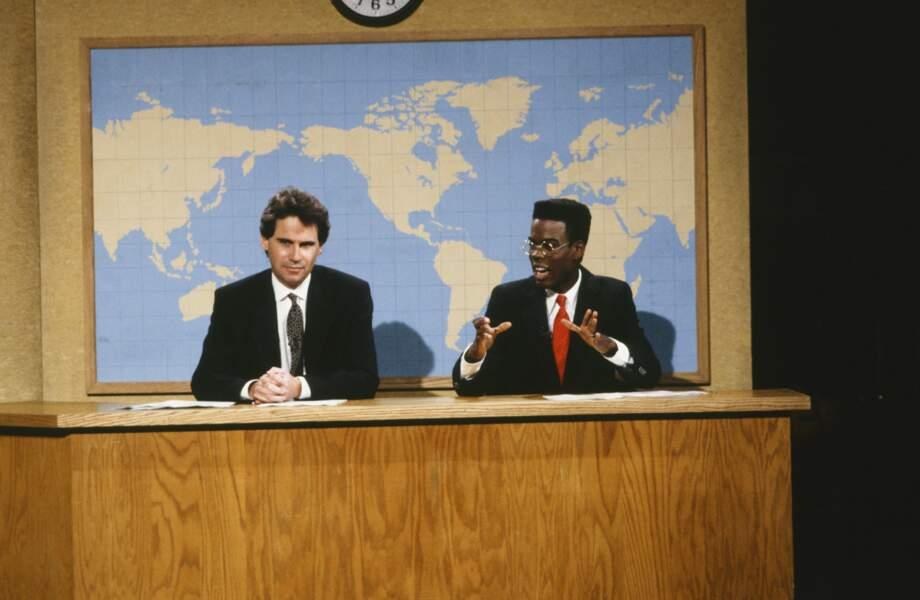 Dennis Miller et Chris Rock présentaient le JT parodique du SNL dans les années 90