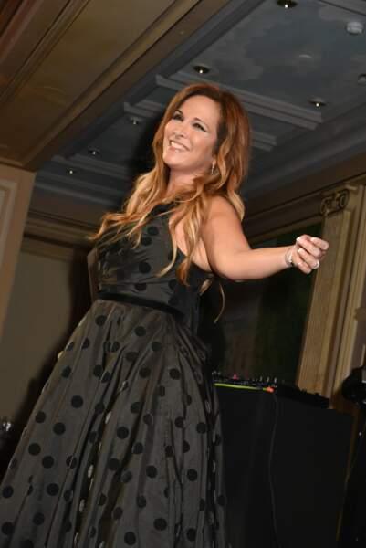 Hélène Segara lors du Best Award Gala à l'hôtel Four Seasons George V à Paris, le 27 janvier 2017
