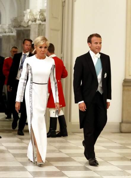 Le couple a été accueilli par la reine Margrethe II de Danemark.