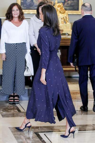 La reine Letizia d'Espagne adore les petites marques françaises comme Maje, Sandro ou Les Petites