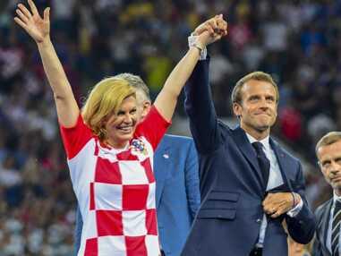 PHOTOS - Emmanuel Macron très complice avec la présidente croate