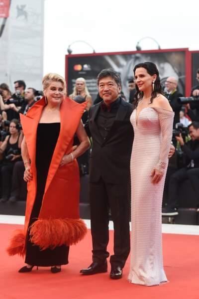 """Juliette Binoche et Catherine Deneuve sont venues présenter le film """"La Vérité"""" réalisé par Kore-eda Hirokazu"""