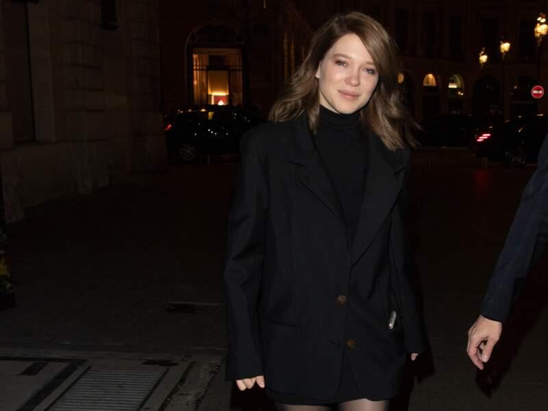 Janvier 2019, Léa Seydoux passe au brun mais n'en oublie pas moins son wavy