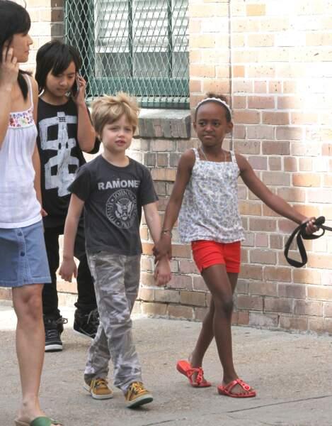 Shiloh Jolie-Pitt, à la Nouvelle-Orléans, où sa famille a vécu quelques temps, en mars 2012