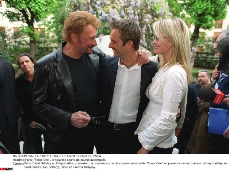 2002. David, Johnny et Laeticia